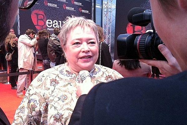 Le 5e festival du film policier de Beaune a rendu hommage à la comédienne Kathy Bates