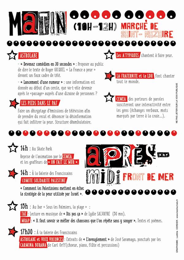 Le programme de la fête de la Peur à Saint-Nazaire le 26 mars 2017