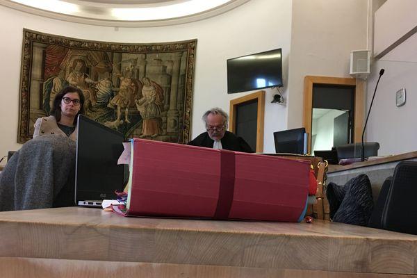 La salle d'audience des assises du Puy-de-Dôme à Riom, le 14 mai 2018.