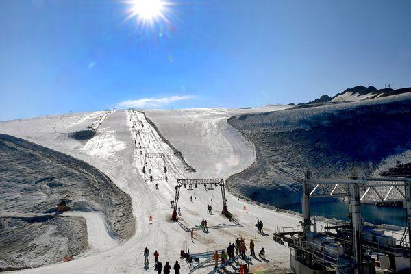 Le glacier des Deux-Alpes en août 2018.