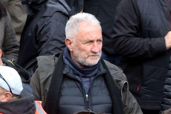 Charles Pieri lors de la manifestation à Ajaccio le 3 février 2018.
