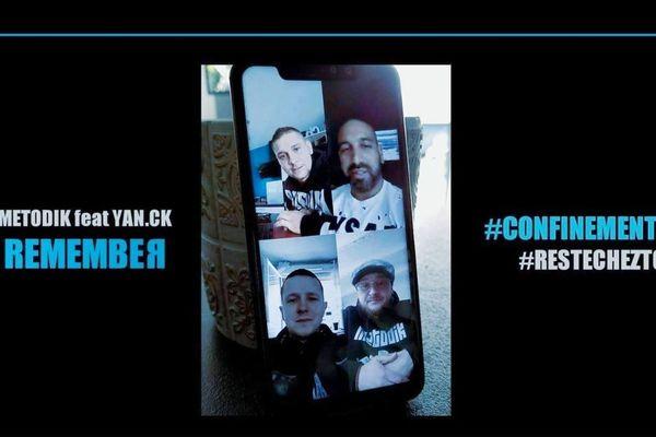 """Le clip de """"Remember"""" enregistré par Metodik et Yan.CK a été entièrement tourné à la maison, au téléphone portable, en raison du confinement dû au coronavirus COVID 19."""