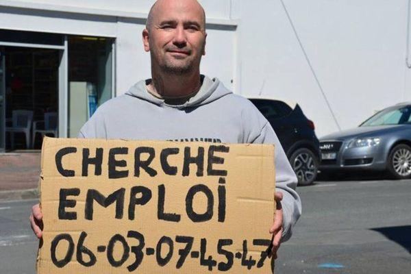 Eric Eymard habite à Pons (17) et multiplie les démarches pour retrouver un emploi