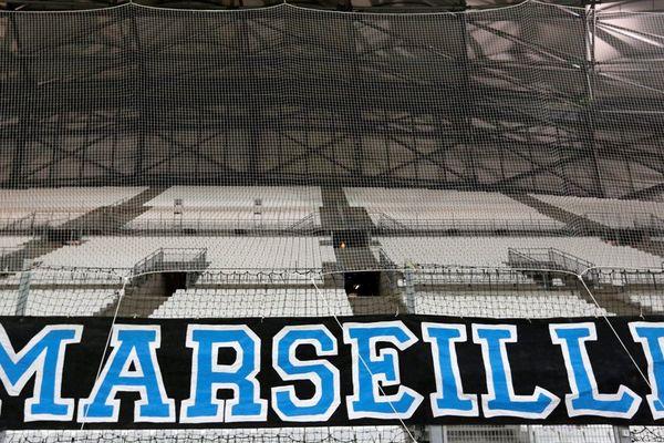 Les tribunes vides au Vélodrome le 26 novembre 2015 lors du match d'Europa League contre le FC Groningen.