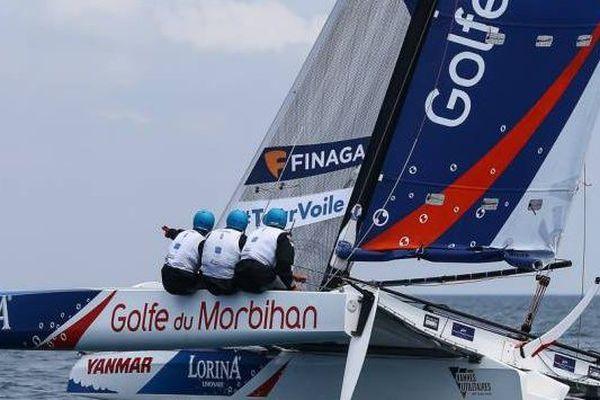 Tour de France à la voile l'actuel équipage en tête, la Team Lorina Limonade-Golfe du Morbihan