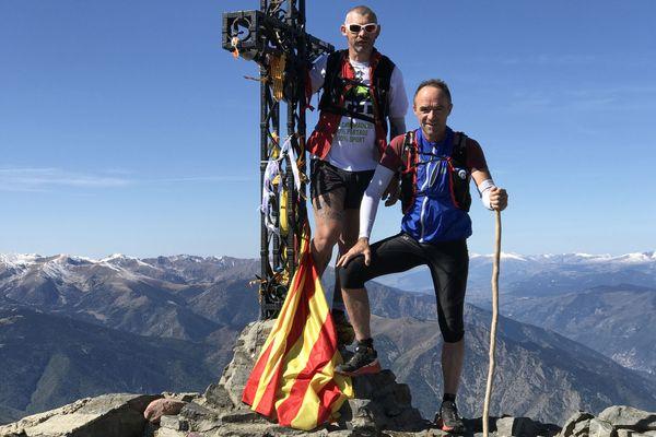 Zinzin reporter accompagné deThierry Gasparini, ultra trailer au sommet du pic du Canigou dans les Pyrénées-Orientales en septembre 2017.