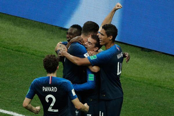 La joie des Bleus après le 3ème but