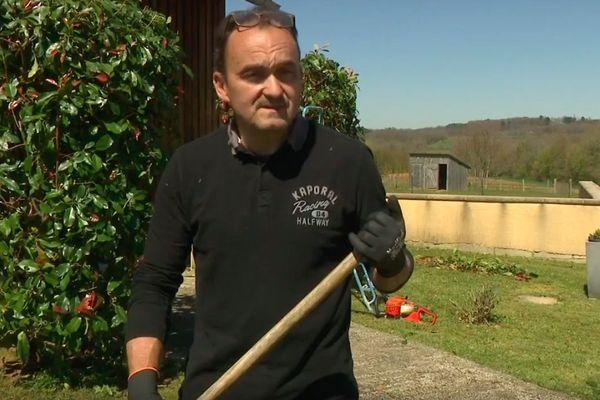 Christophe Delmon, propriétaire de gîte à Archignac