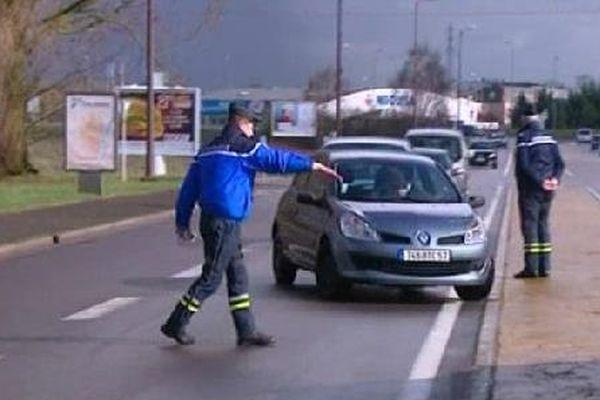 De nombreux automobilistes ont été contrôlés à Talange (57)