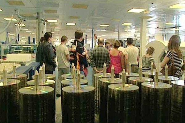 Les salariés de Cinram, placé en liquidation judiciaire, ont organisé une journée portes-ouvertes.