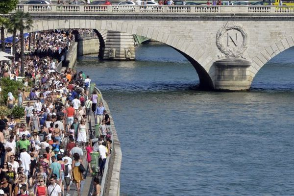 une afflue,ce record cette année à Paris-Plages