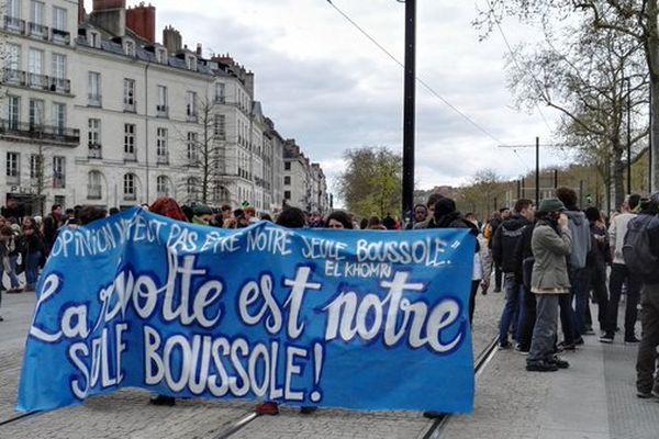 Manifestation des lycéens à Nantes le 5 avril 2016