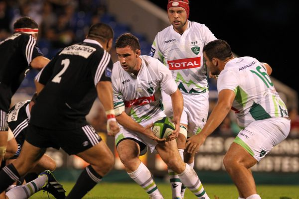 Match de rugby de PRO D2 opposant la Section Paloise à Dax , au stade du Hameau de Pau le 26 Octobre 2013