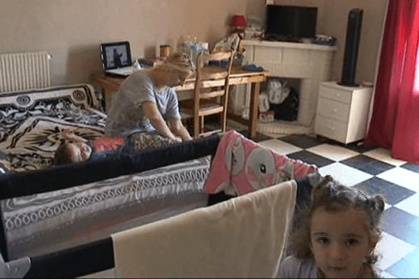 Depuis le 14juillet, plusieurs familles de sans papiers ont trouvé refuge dans une grande villa. Perpignan le 21 juillet 2014.