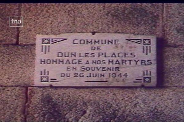 Pendant la Seconde Guerre mondiale, 27 hommes ont été fusillés par les nazis en juin 1944, à Dun-les-Places, dans la Nièvre.