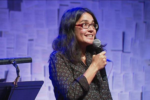 Marine Bachelot Nguyen à Limoges ce 1er octobre 2019, lauréate du Prix Sony Labou Tansi 2019.