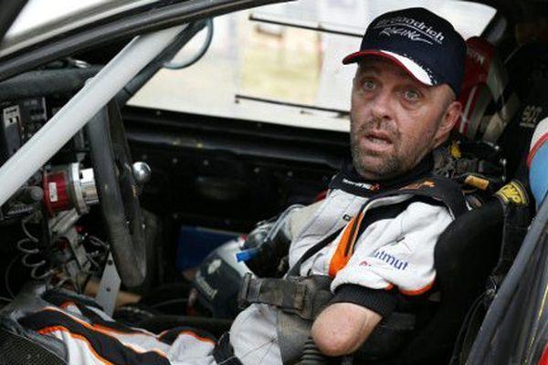 Philippe Croizon dans son buggy aménagé sur le Dakar 2017.