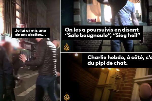 """Captures d'écran du reportage """"Génération haine"""" d'Al Jazeera"""
