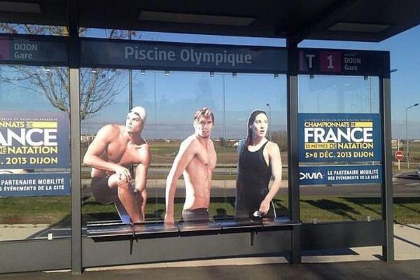 Les championnats s'affichent en grand sur les abribus de Dijon