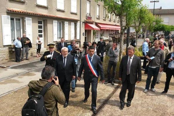 Jean-Marc Todeschini, Secrétaire d'État chargé des Anciens Combattants et de la Mémoire, préside les cérémonies d'Oradour
