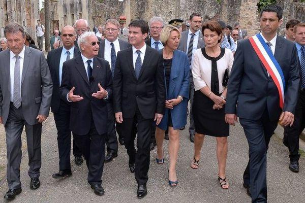 Manuel Valls a commémoré mardi le 70e anniversaire du massacre d'Oradour-sur-Glane mardi 10 juin