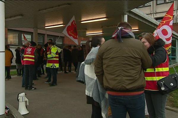 Ce 29 janvier 2019, grève de la Carsat à Rouen