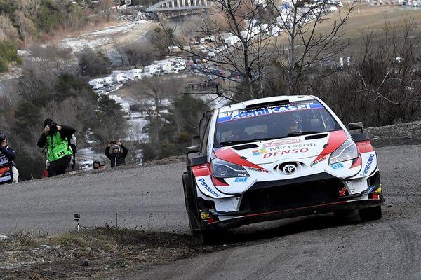Le natif de Gap Sébastie Ogier sur sa Toyota Yaris lors du Monte-Carlo 2020.