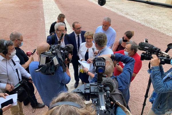 Marie-Guite Dufay, après l'annonce des résultats des élections régionales ce 27 juin 2021.