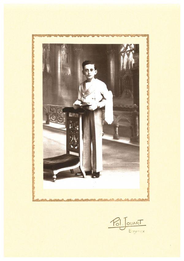 Christian Costil, jeune adolescent de Banville en 1944
