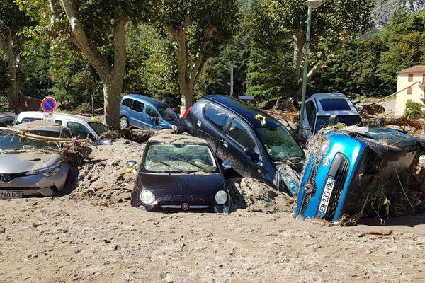 La commune de Breil-sur-Roya fortement touchée par la tempête Alex