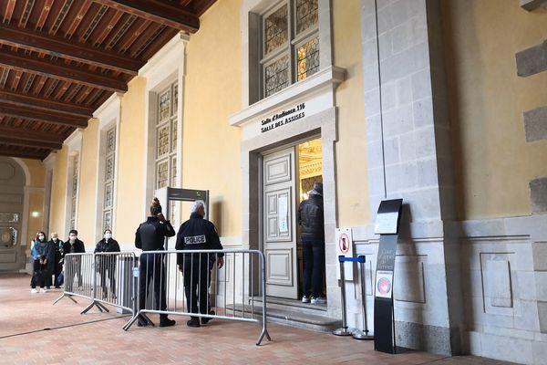 La cour d'assises à Rennes où sont jugés six hommes mis en cause dans la mort de Dorian Guémené en juillet 2018