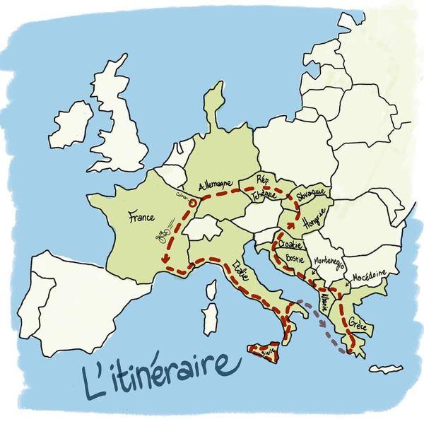 Voici l'itinéraire imaginé par les quatre amis, il fait 7.000 km