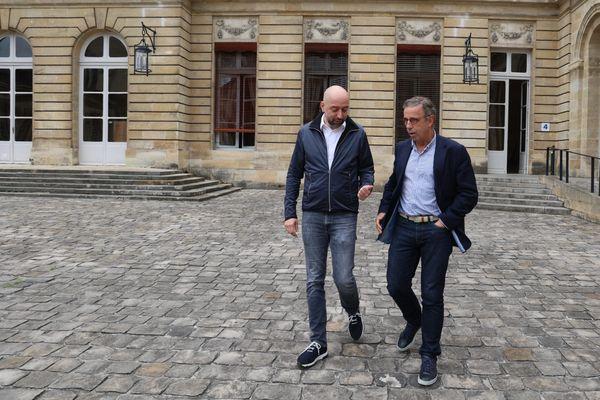 Gérard Lopez, le repreneur des Girondins de Bordeaux, a rencontré le maire Pierre Hurmic, le 23/06/21.