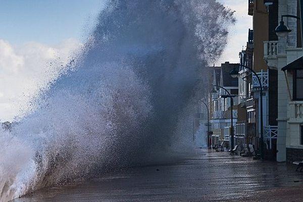 En 2014, grande marée à Saint-Malo
