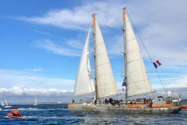 Tara à son retour à Lorient ce 27 octobre 2018 de sa 11ème expédition dans le Pacifique