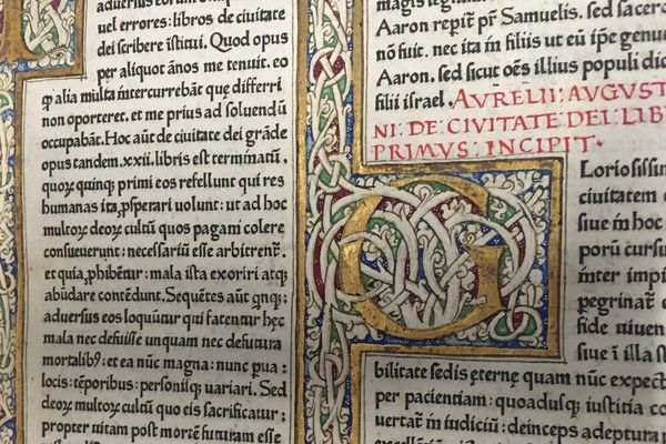 """Le """"Subiaco"""", caractère créé par Konrad Sweynheim et Arnold Pannartz en 1465."""
