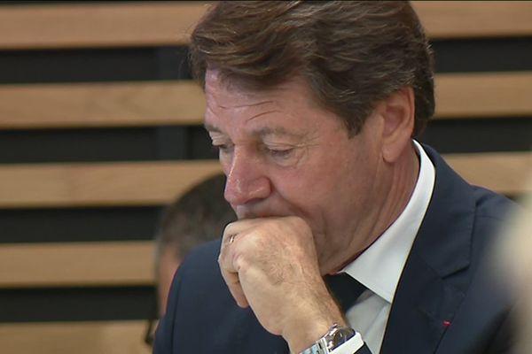 Christian Estrosi au conseil municipal de Nice ce vendredi 17 octobre.