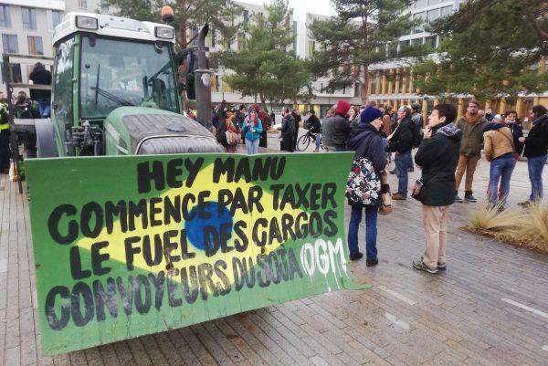La fin du cortège de la marche pour le climat à Rennes