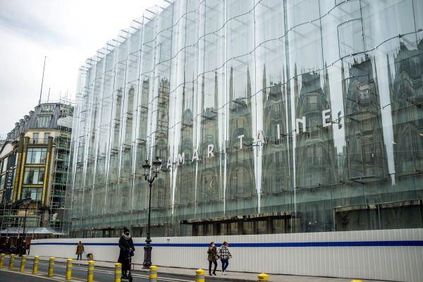 La façade de verre de La samaritaine en février dernier