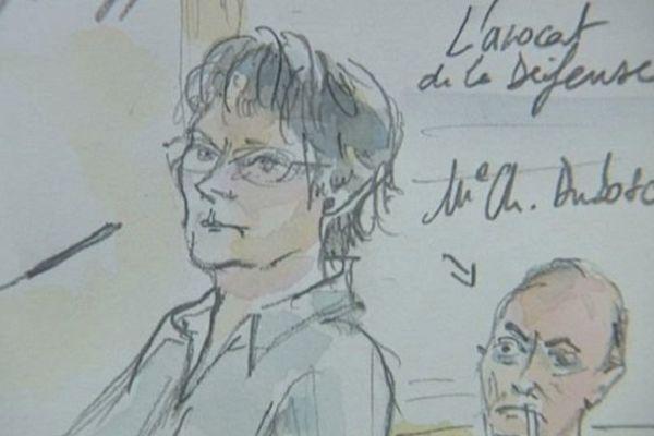 Jacqueline Sauvage à la barre. A ses côtés, son avocat Me Charles Dubosc.