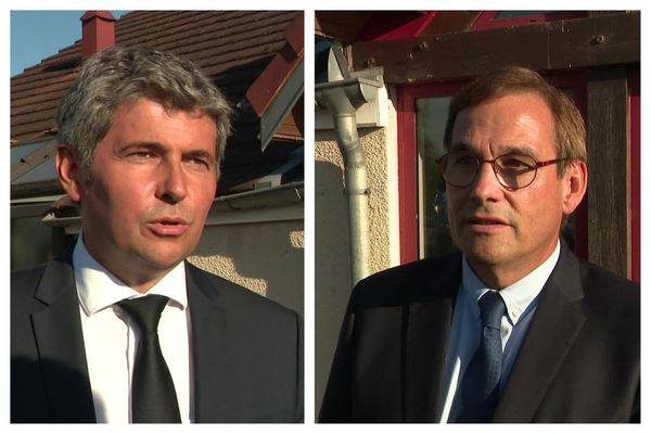 Gilles Platret, maire LR de Chalon-sur-Saône et Jean-Marie Sermier, député LR du Jura conduisent la liste des Républicains aux régionales 2021 en Bourgogne-Franche-Comté.