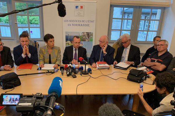 Le préfet de Rouen, Pierre-André Durand lors de la conférence de presse du mardi 1er octobre 2019.
