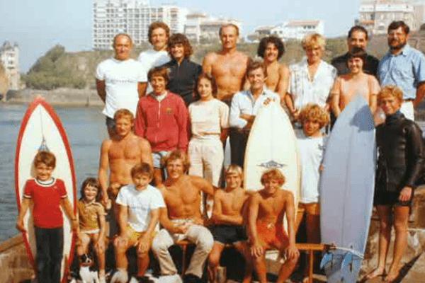 La Côte des Basques au début des années 80 avec la famille Barland
