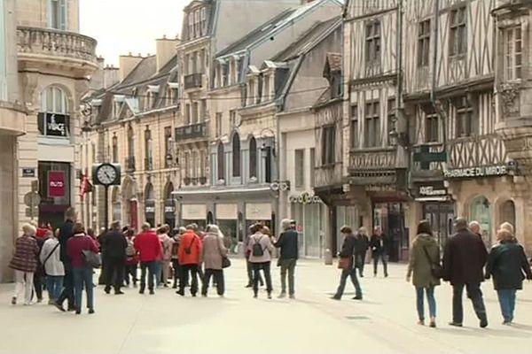 Le centre-ville de Dijon dimanche 29 avril 2018