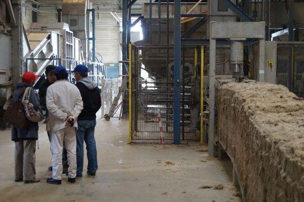 Visite de l'usine Agrofibre (Groupe Coopératif Euralis) - à Cazères (dép 31)