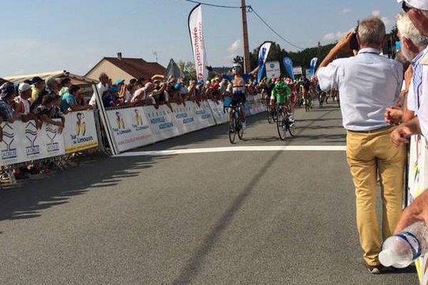 Roman Maikin remporte la 2ème étape du Tour du Limousin, le 17 août 2016