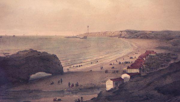 Dans l'exposition, nous découvrons des gravures qui montrent l'évolution spectaculaire de Biarritz