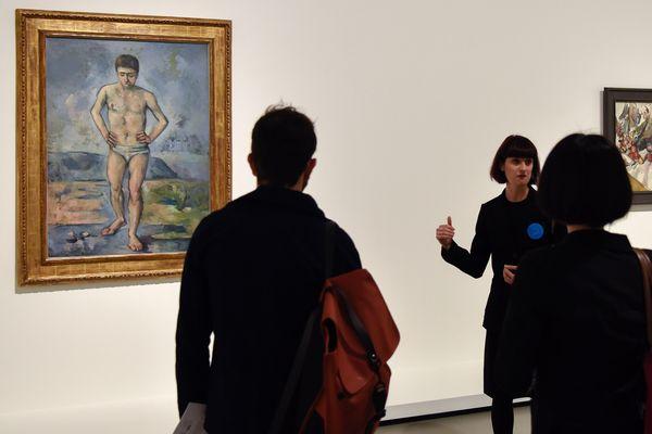 Une exposition d'oeuvres du MoMa à la Fondation Louis-Vuitton, à Paris.