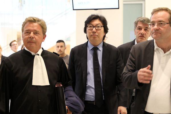 Jean-Vincent Placé à son arrivé au tribunal correctionnel de Paris, le 11 juillet 2018.