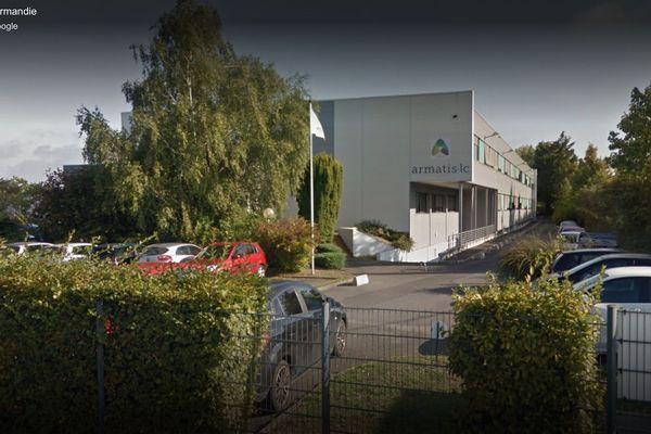 Les locaux du centre d'appel Armatis, rue de la Girafe à Caen.